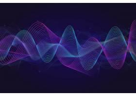 均衡器波背景为有光泽的粒子_6721734