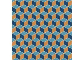 具有等距立方体无缝图案设计的抽象背景_9465773