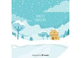 冬季景观背景_3344959