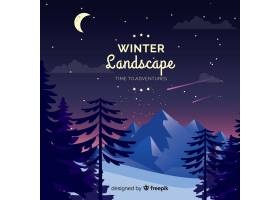 冬季景观背景_3411922