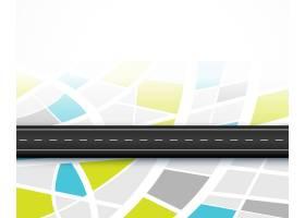 出行路线路线图出行背景设计_9727743