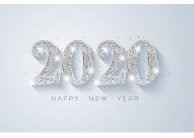 2020年银色新年背景_6146466