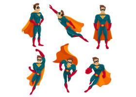 超级英雄动作图标集_4265871