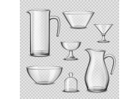 逼真的玻璃器皿厨房用具透明背景_4016985