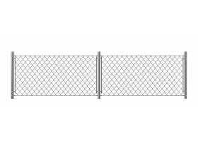 隔离在白色背景上的铁丝网_4758522