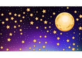 黑暗天空中有明亮星星的背景模板_6952733