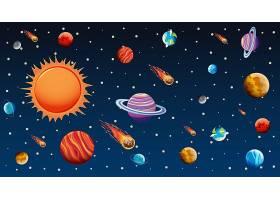 黑暗天空中有明亮星星的背景模板_7038181