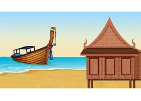海滩旁的泰式房子_4228163
