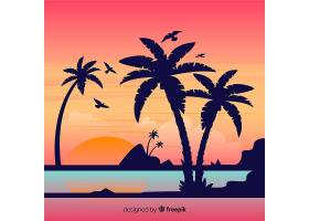 海滩背景_4447492