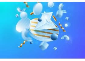 混合形状的3D背景_7473696