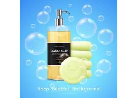 肥皂泡写实背景海报_4329644