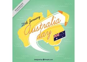 澳大利亚日背景与回旋镖_996178