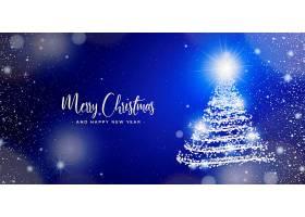 灯光模糊不清的优雅圣诞横幅_6229762