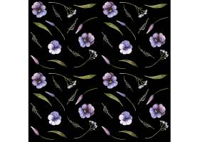 花卉无缝图案设计_10368900