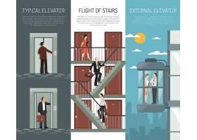 电梯自动扶梯楼梯垂直横幅设置_4301441