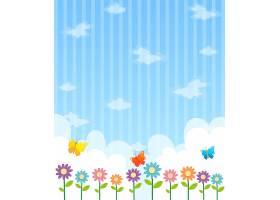 花团锦簇蓝天背景设计_1378627