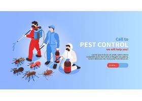虫害防治屋卫生消毒服务等距网站横幅有专_7379204