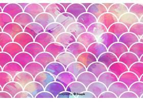 抽象粉红色水彩马赛克背景_5600258