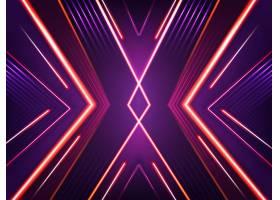抽象霓虹灯背景明亮的氙气红色紫色和粉_3586191