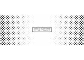 抽象黑白虚线横幅背景_6844399
