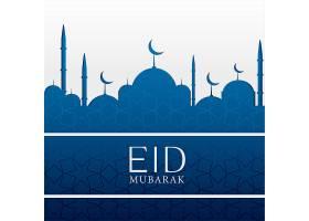 开斋节伊斯兰背景蓝色清真寺_2265532