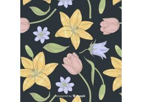 复古花卉元素图案_4131138