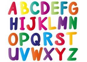 多种颜色的英文字母表_1372634