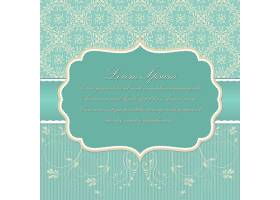 婚礼邀请函和带有复古背景艺术品的宣传卡_1283250