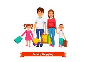 家庭购物平台风格矢量插图_1311139