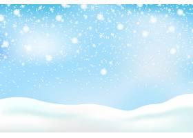 带天空的降雪背景_6405036