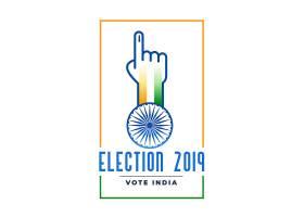 带投票手的2019年选举标签_4143996