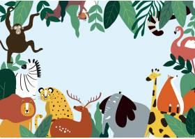 动物主题模板矢量插图_3374800