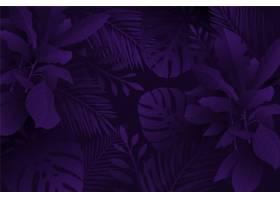 单色紫色逼真的深色热带树叶背景_6843049