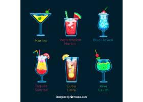 各式各样五颜六色的夏日饮品_1187100