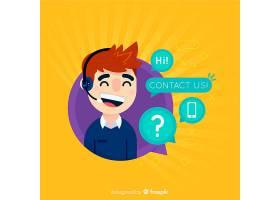 呼叫中心话务员平面设计_4750397