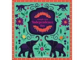 丰富多彩的印度独立日背景_4737754