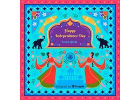 丰富多彩的印度独立日背景_4737759