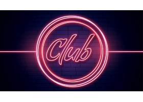 俱乐部招牌以红色夜灯为背景_6640306