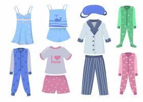 儿童和成人睡衣套装衬衣和裤子或短裤睡_11671899
