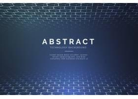 具有三维六边形的现代抽象技术背景_4810716