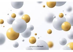 具有光泽球的逼真流动背景_5580003