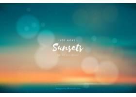 具有波克效应的夏季日落海滩背景_1175577