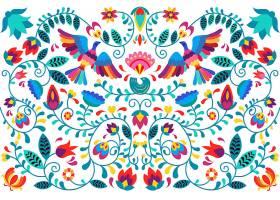 平面设计中的五颜六色的墨西哥背景_6673739