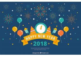 平面设计的新年背景_1347688