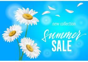 夏季销售新系列季节横幅天蓝色背景上的洋_2541780