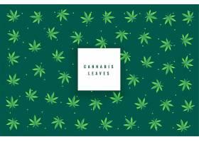 天然大麻叶图案背景_6865581