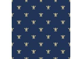 天衣无缝的图案与皇家百合质地背景蓝色_10601042