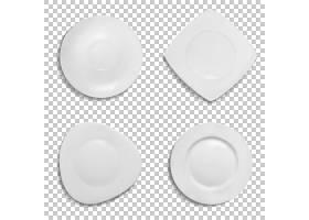 印有不同形状的插图孤立的陶瓷三维真实感_3264828