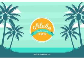 以棕榈树为背景的充满异国情调的海滩_1183852