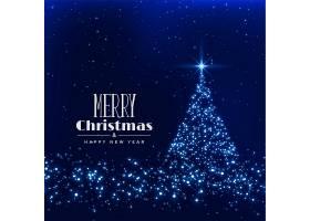 以闪闪发光的背景制作的快乐圣诞树_6080532